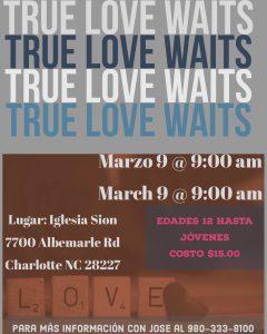Conferencia: Jóvenes (True Love Waits)
