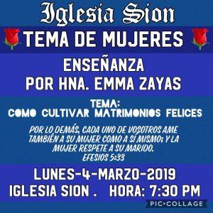 Enseñanza de Mujeres @ Iglesia Sion